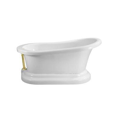 60 x 32 Freestanding�Soaking Bathtub Color: Gold