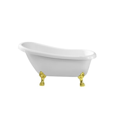 61 x 31.5 Freestanding Soaking Bathtub Color: Gold
