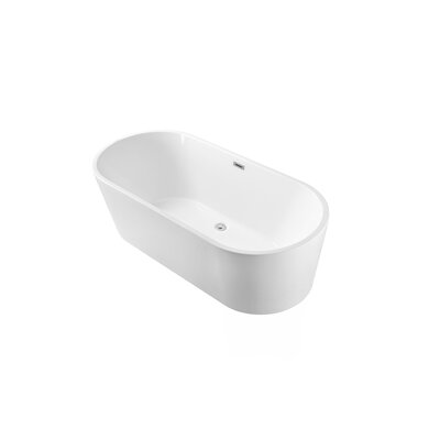 59 x 22 Freestanding Soaking Bathtub