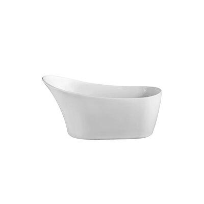 59.1 x 31.5 Freestanding Soaking Bathtub