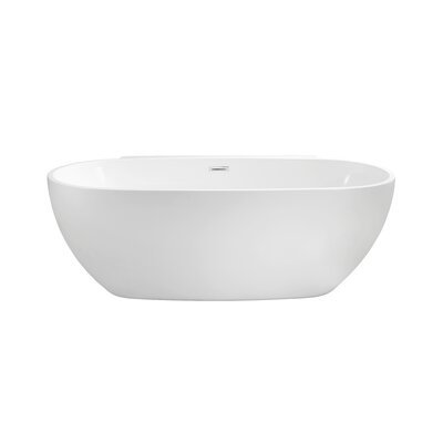 59 x 22.8 Freestanding Soaking Bathtub