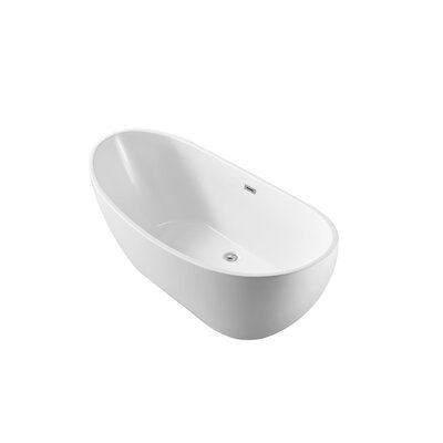 62 x 28.3 Freestanding Soaking Bathtub