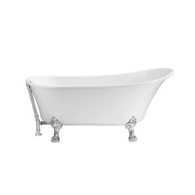 67 x 31.5 Freestanding Soaking Bathtub Color: Chrome