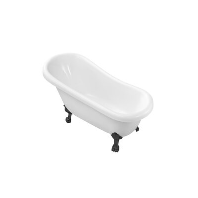 61 x 31.5 Freestanding Soaking Bathtub Color: Black