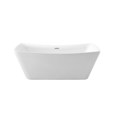 62 x 24.8 Freestanding Soaking Bathtub