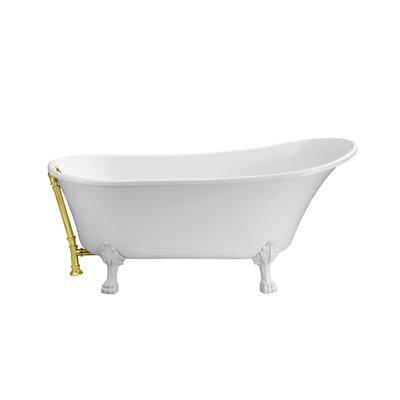 67 x 31.5 Freestanding Soaking Bathtub Color: Gold