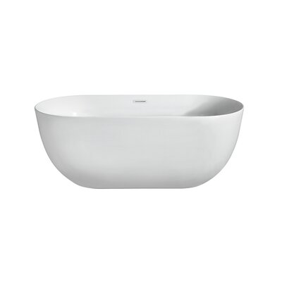 67 x 23.6 Freestanding Soaking Bathtub