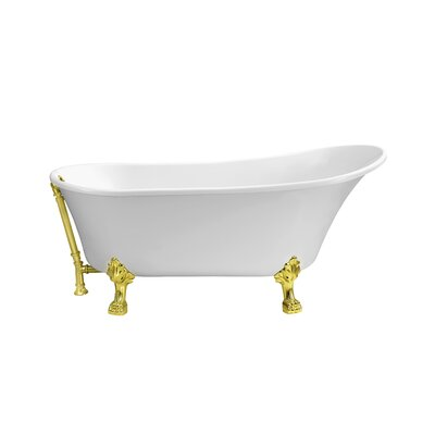 67 x 31.5 Freestanding Soaking Bathtub Color: Gold
