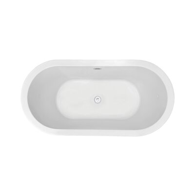 62 x 21.7 Freestanding Soaking Bathtub
