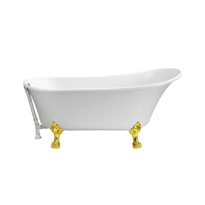67 x 31.5 Freestanding Soaking Bathtub Color: Chrome