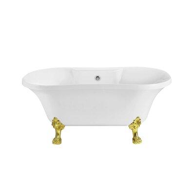 60 x 32 Freestanding Soaking Bathtub Color: Chrome