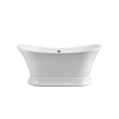 60 x 26.4 Freestanding Soaking Bathtub Color: Chrome