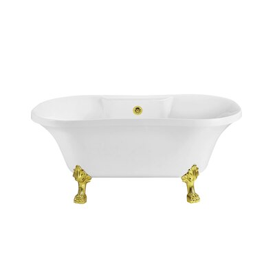 60 x 32 Freestanding Soaking Bathtub Color: Gold