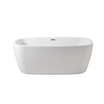 59 x 28.3 Freestanding Soaking Bathtub