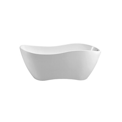 67 x 24.8 Freestanding Soaking Bathtub