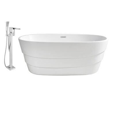 63 x 31 Freestanding Soaking Bathtub