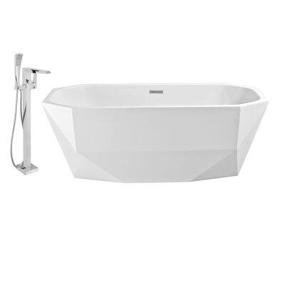 63 x 29 Freestanding Soaking Bathtub