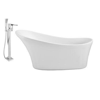 63 x 28 Freestanding Soaking Bathtub