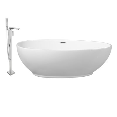 63 x 32 Freestanding Soaking Bathtub