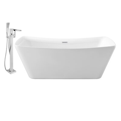 62 x 30 Freestanding Soaking Bathtub