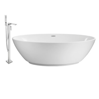 63 x 32 Freestanding Soaking Bathtub