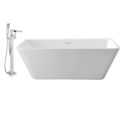 63 x 29 Alcove Soaking Bathtub