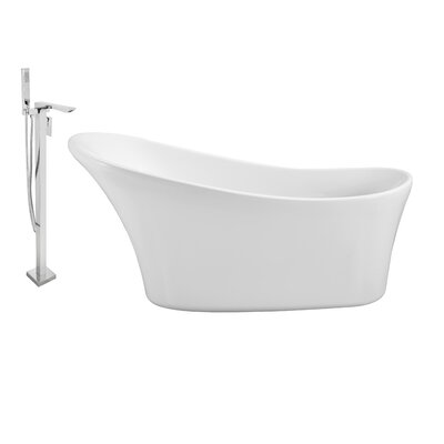 63 x 28 Freestanding Soaking Bathtub