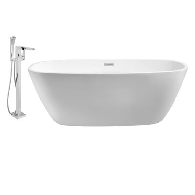 59 x 28 Freestanding Soaking Bathtub