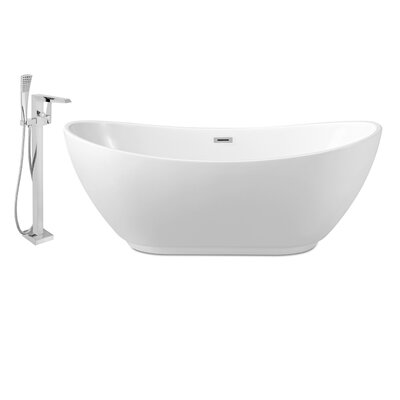 62 x 28 Freestanding Soaking Bathtub