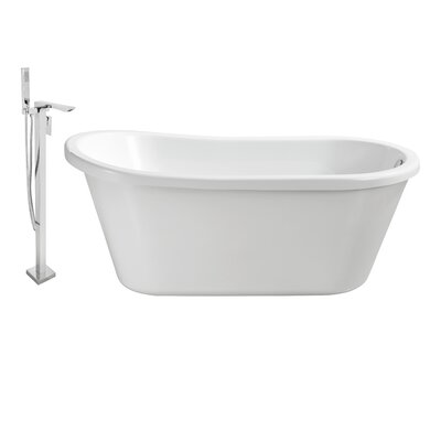 59 x 30 Freestanding Soaking Bathtub