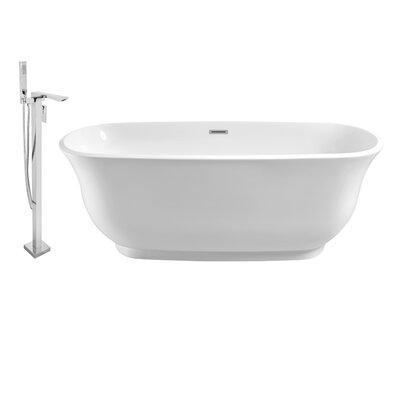 59 x 28 Freestanding Soaking Bathtub