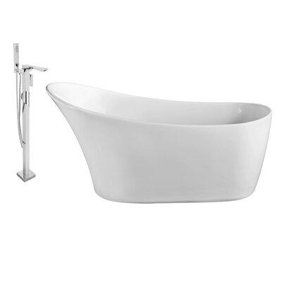 63 x 30 Freestanding Soaking Bathtub