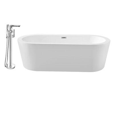 62 x 29 Freestanding Soaking Bathtub