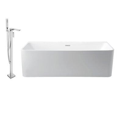 59 x 28 Alcove Soaking Bathtub