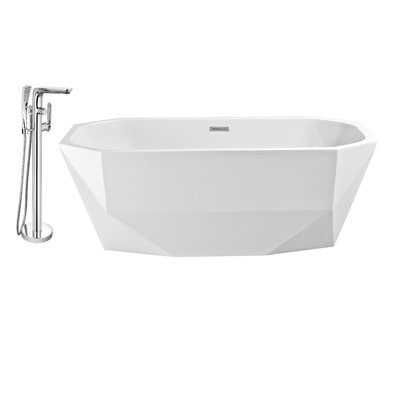 63 x 29 Freestanding Soaking Bathtub