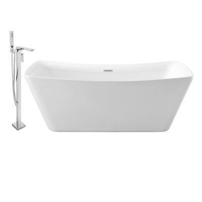 62 x 30 Freestanding Soaking Bathtub