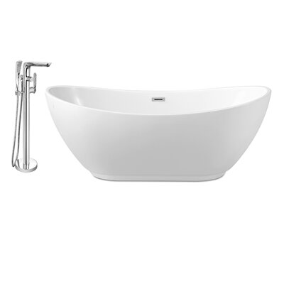 62 x 28 Freestanding Soaking Bathtub