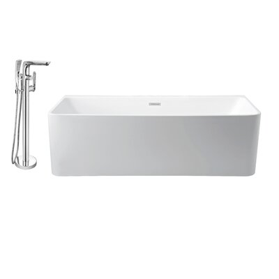 59 x 28 Alcove Soaking Bathtub