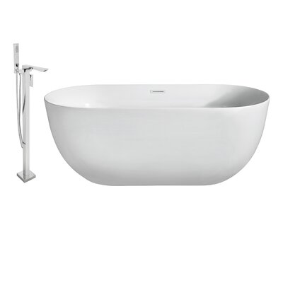 67 x 31 Freestanding Soaking Bathtub