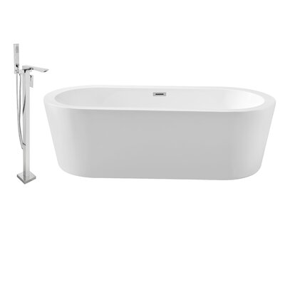 62 x 29 Freestanding Soaking Bathtub