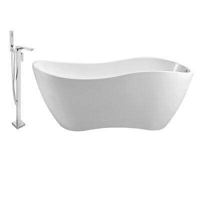 67 x 31 Freestanding Soaking Bathtub