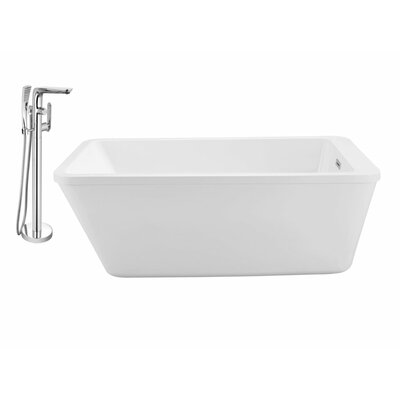 60 x 32 Freestanding Soaking Bathtub
