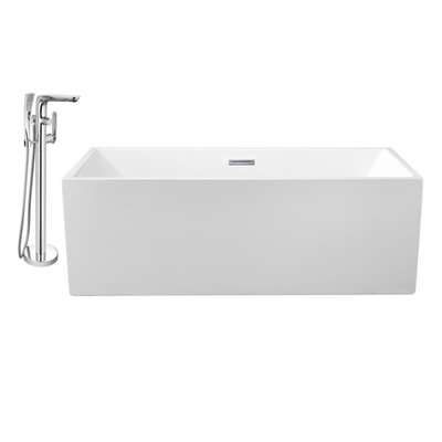 66 x 32 Freestanding Soaking Bathtub