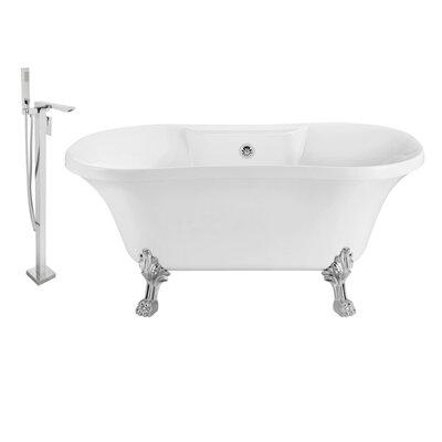 60 x 32 Clawfoot Soaking Bathtub Feet Finish: Chrome, Finish: Chrome