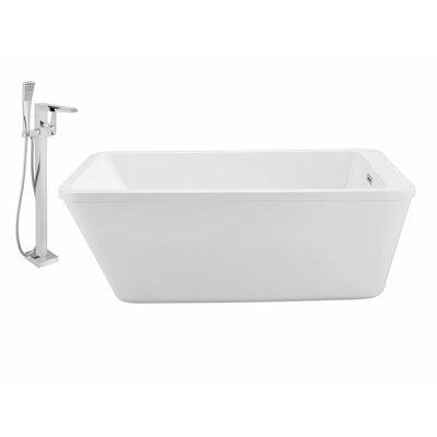 60 x 32 Freestanding Soaking Bathtub