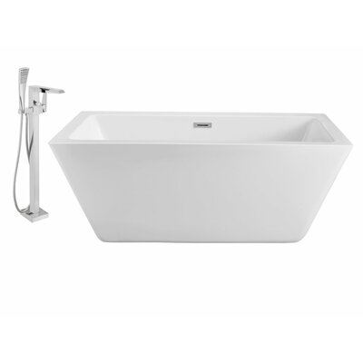 60 x 28 Freestanding Soaking Bathtub