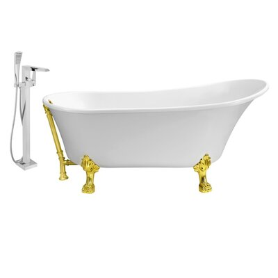 67 x 32 Clawfoot Soaking Bathtub Feet Finish: Gold, Finish: Gold