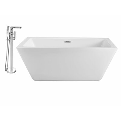 60 x 28 Freestanding Soaking Bathtub