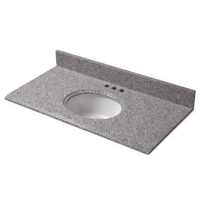 Granite 37 Single Bathroom Vanity Top Finish: Napoli