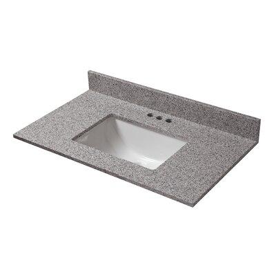 Granite 31 Single Bathroom Vanity Top Finish: Napoli